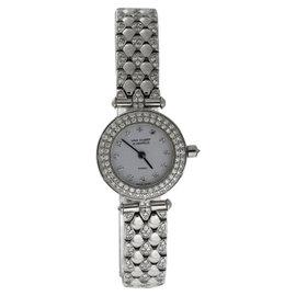 Van Cleefe & Arpels 18K White Gold Diamond Womens 21mm Watch