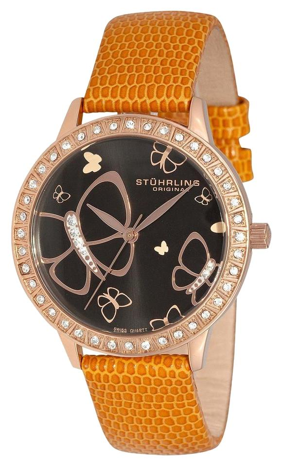 """Image of """"Stuhrling Fantasia 299.1245F1 Stainless Steel & Leather 35mm Watch"""""""