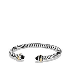 David Yurman Sterling Silver & 14K Yellow Gold Onyx Cable Bracelet