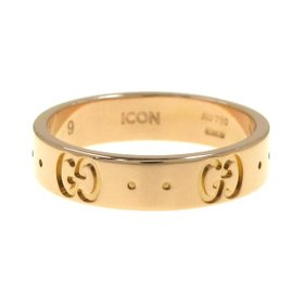 Gucci 18K Rose Gold G Icon Ring Size 4.75