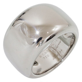 Cartier 18K White Gold Nouvelle Vague Ring Size 5.75