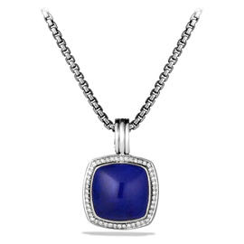David Yurman Albion Lapis Lazuli & Diamonds Pendant Necklace