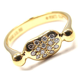 Tiffany & Co. Elsa Peretti 18K Yellow Gold Diamond Ring Size 3.5