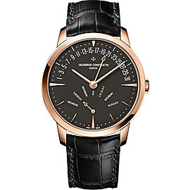 Vacheron Constantin Patrimony 4000U/000R-B111 18K Rose Gold & Leather with Black Dial Automatic 42.50mm Mens Watch