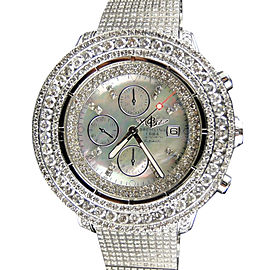 Breitling Super Avenger Diamond Fully Iced 42 Ct Mens Watch