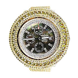 Breitling Mens Super Avenger Canary Diamond 50 Ct Watch