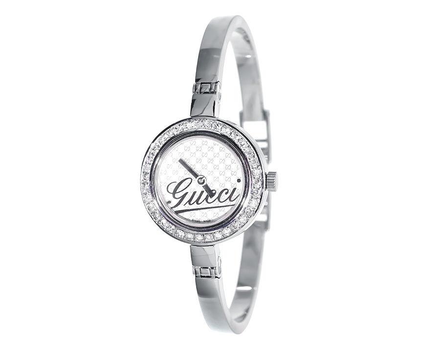 "Image of ""Gucci Ya105528 2ct Genuine Diamond Stainless Steel Bangle Bracelet"""