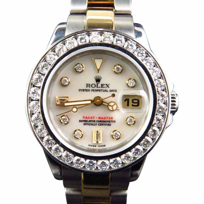 "Image of ""Rolex 2 Tone Yacht Master Band 29 MM 18k/Steel Band 169623 Diamond"""