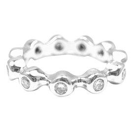 Chanel 18K White Gold Diamond Eternity Band Ring