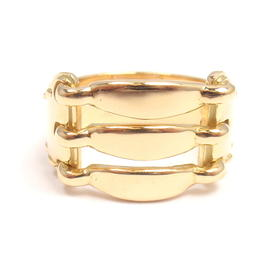 Hermes 18K Yellow Gold Tied & Stitched Design Band Ring