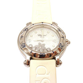 Chopard Stainless Steel Happy Sport Happy Snowflake Diamond Watch