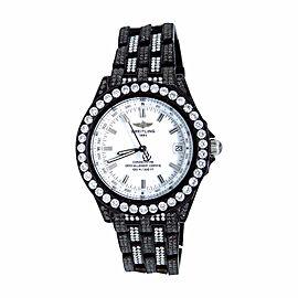 Breitling Chronometre 15.5 Ct Black Pvd Diamond Brand New Unisex 38 mm Watch