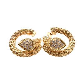 Boucheron Serpent Bohème Toi et Moi 18K Yellow Gold Diamond Earrings
