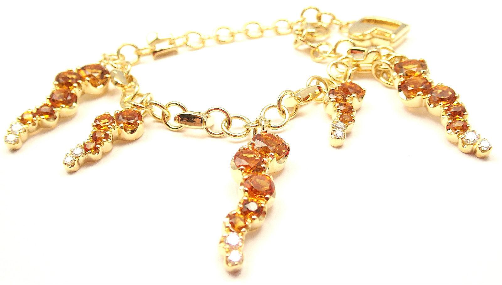"""""Pasquale Bruni 18K Yellow Gold Ray Sun Citrine Diamond Bracelet"""""" 140911"