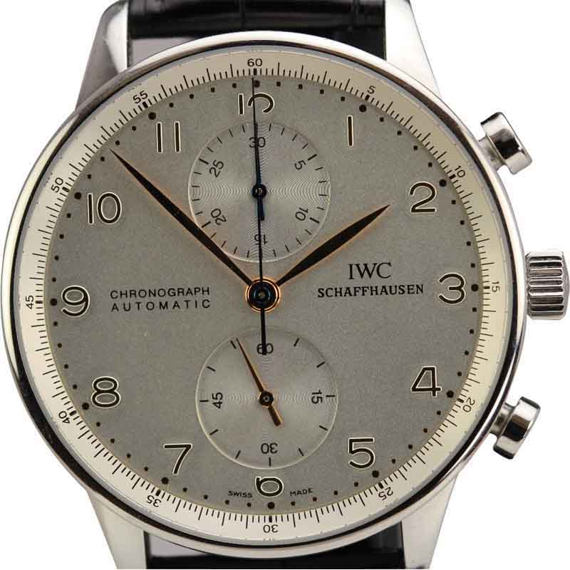 "Image of ""IWC 3714 Portuguese Chronograph Automatic Stainless Steel Watch"""