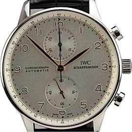 IWC 3714 Portuguese Chronograph Automatic Stainless Steel Watch