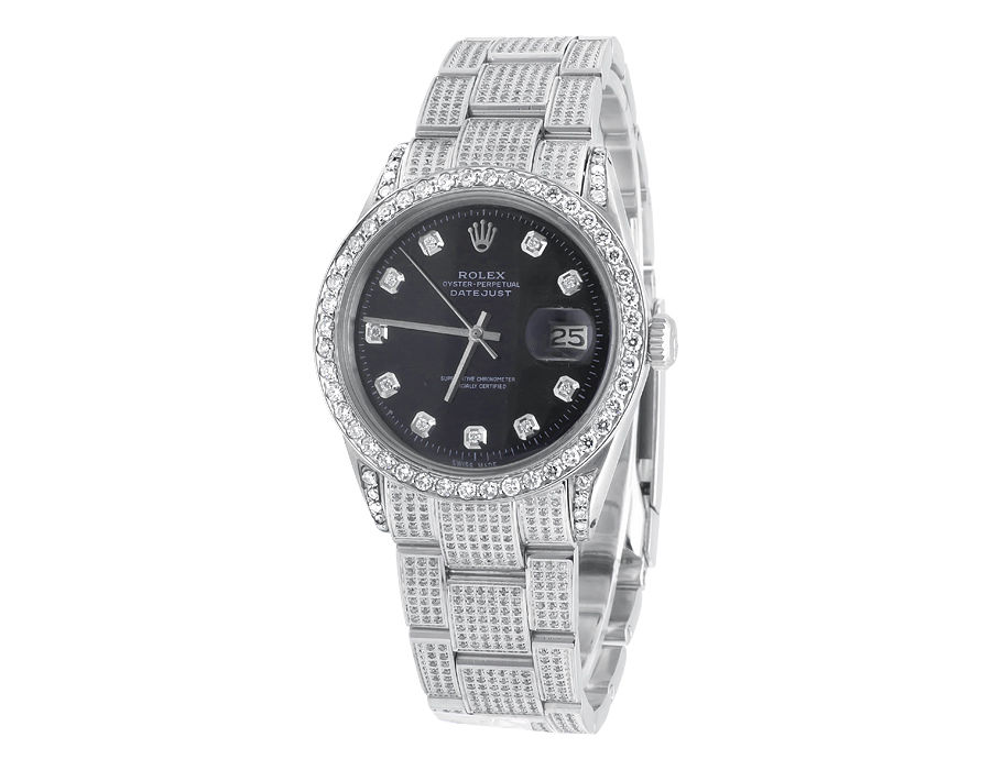 """Image of """"Rolex Datejust Oyster Stainless Steel Dial 7.5 Ct Diamond Mens 36 mm"""""""