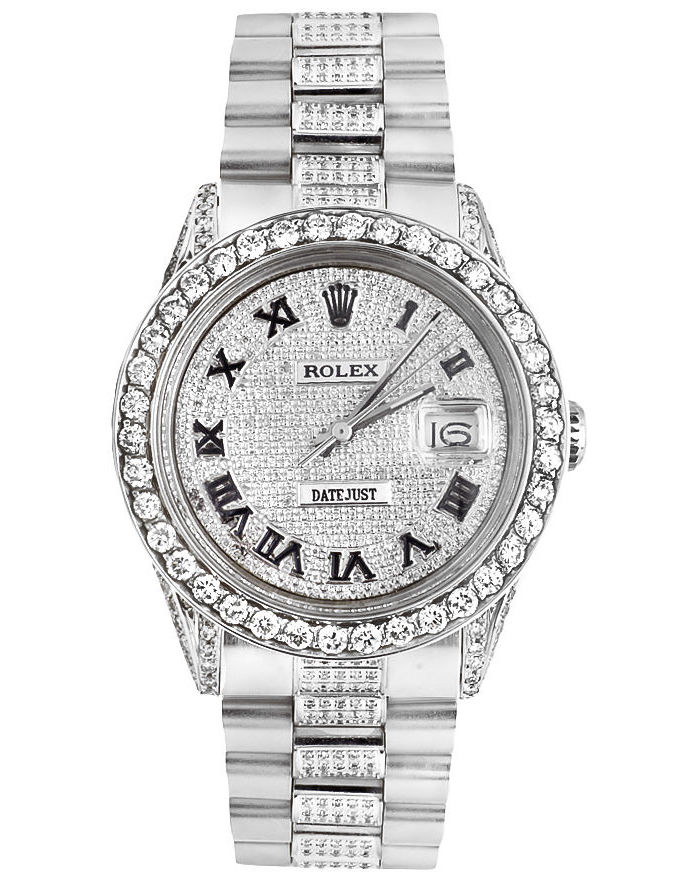 """Image of """"Rolex Datejust Stainless Steel Presidential Dial 10ct. Diamond 36mm"""""""