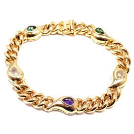 Chopard Casmir 18K Yellow Gold Diamond Amethyst Tourmaline Bracelet