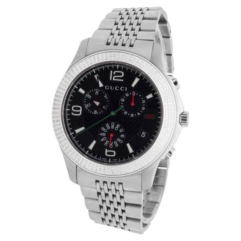"Image of ""Gucci 101 G-Timeless Big Face 45mm Swiss Diamond Watch"""