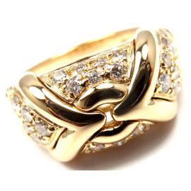Bulgari 18K Yellow Gold Diamond Band Ring