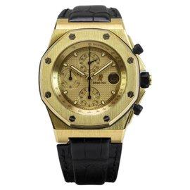 Audemars Piguet Royal Oak Offshore 18K Yellow Gold Automatic Chronograph Mens Watch