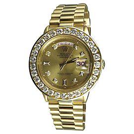 Rolex President Day-Date 1803 18K Yellow Gold 7.5ct Diamond Mens 36mm Watch
