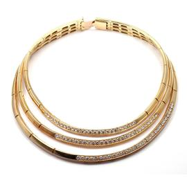 Van Cleef & Arpels 18k Yellow Gold 10.00 Ct Diamond Choker Necklace