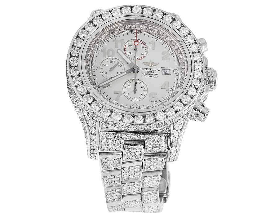 "Image of ""Breitling A13370 Super Avenger XL Stainless Steel with 31.5ct."""
