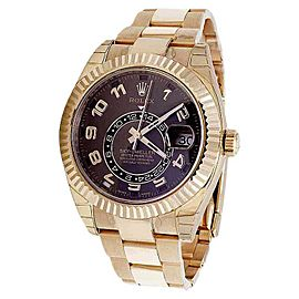Rolex Sky Dweller 326935 18K Ever Rose Gold Chocolate Dial 44mm Watch