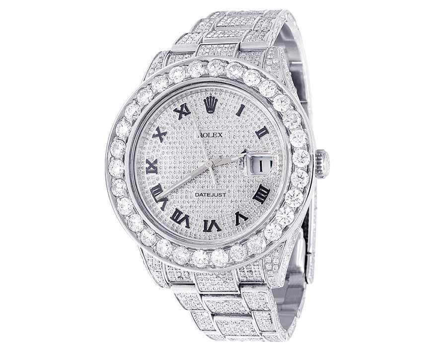 "Image of ""Rolex Datejust II 116300 Stainless Steel & Roman Diamonds Dial 41mm"""