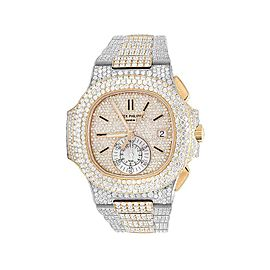 Patek Philippe Nautilus 5980/1AR-001 18K Rose Gold and Stainless Steel 40.5mm Mens Watch