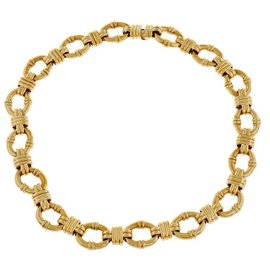 Tiffany & Co. 18K Yellow Gold Fancy Link Necklace
