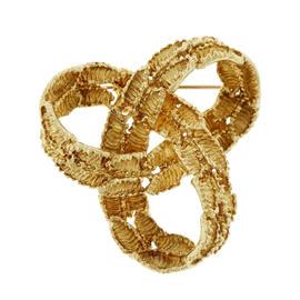 Tiffany & Co. 18K Yellow Gold Textured Infinity Knot Pin