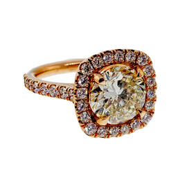 Peter Suchy 18K Rose Gold 3.04ct Diamond Ring Size 6