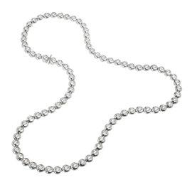 Tiffany & Co. 950 Platinum Diamond Bezel Set Tennis Necklace