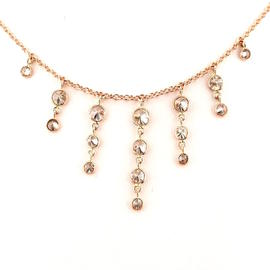 Peter Suchy 14K Rose Gold with 0.70ct Diamond Necklace