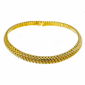Tiffany & Co. 18K Yellow Gold Vannerie Mesh Collar Necklace