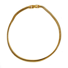 Tiffany & Co. 14K Yellow Gold Oval Snake Chain Necklace