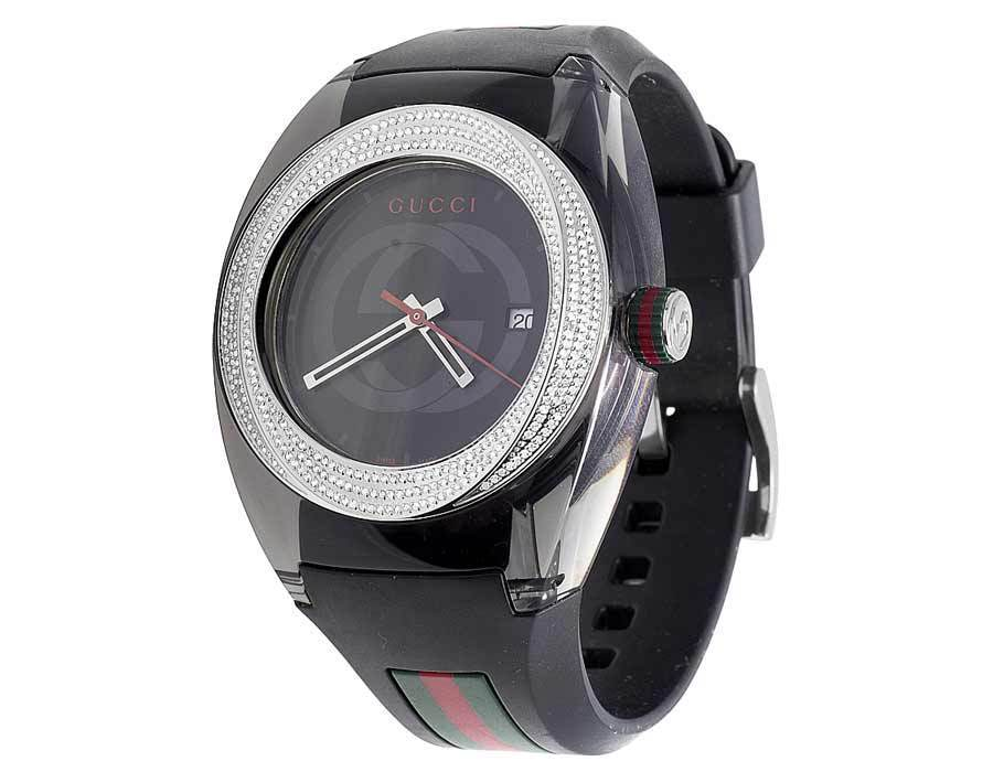 """Image of """"Gucci Sync Ya137101 Stainless Steel 46mm Mens Watch"""""""