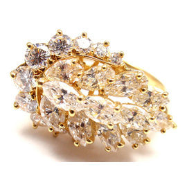 Piaget 18K Yellow Gold with Diamond Cocktail Ring Size 6.25
