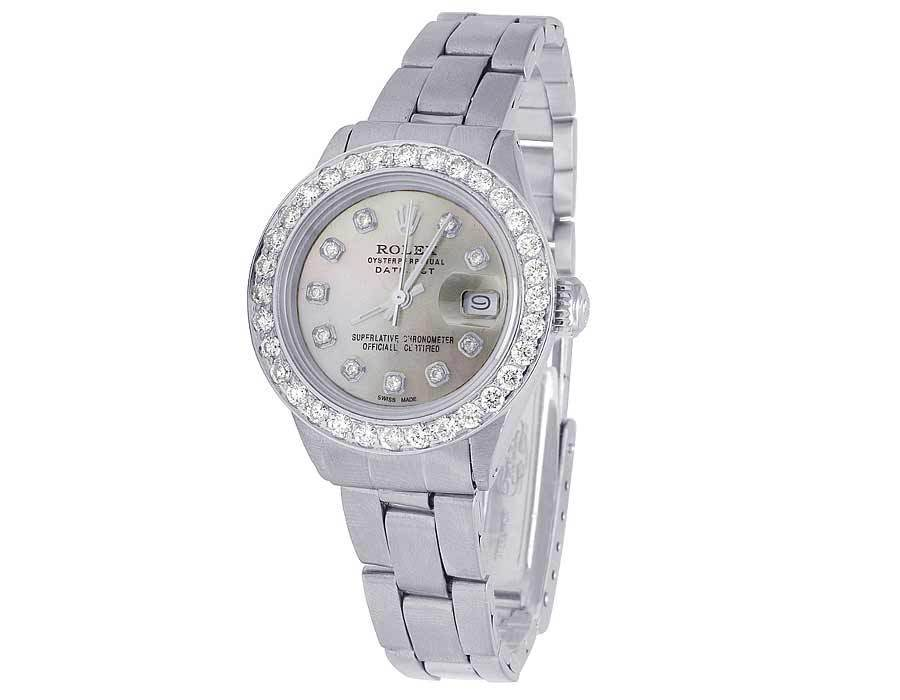 "Image of ""Rolex Datejust Stainless Steel Oyster Bracelet 2.5ct Diamond 26mm"""