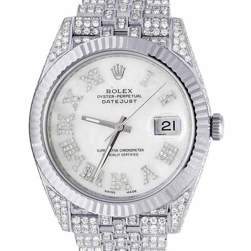"Image of ""Rolex Datejust II 126334 Stainless Steel White Mother Of Pearl Dial"""