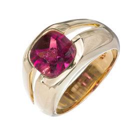 Tiffany & Co. 18K Yellow Gold & Pink Tourmaline Ring Size 5.5