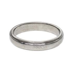 Tiffany & Co. 950 Platinum Wedding Band Ring Size 9