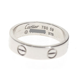 Cartier 18K White Gold Ring Size 8.75
