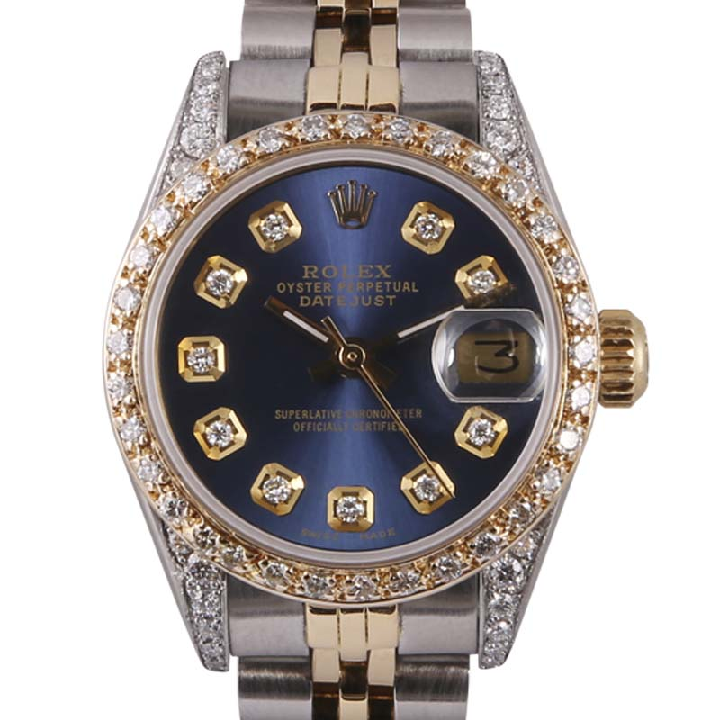 "Image of ""Rolex Datejust 18K Yellow Gold & Stainless Steel Navy Blue Diamond"""