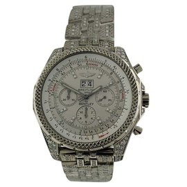 Breitling Bentley 18K White Gold Diamond 48mm Mens Watch