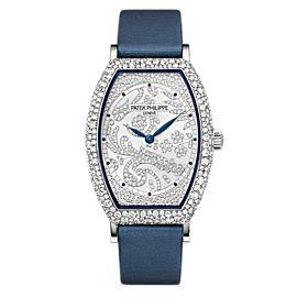 Patek Philippe Gondolo 7099G-001 18K White Gold & Satin Diamond 30mm Watch