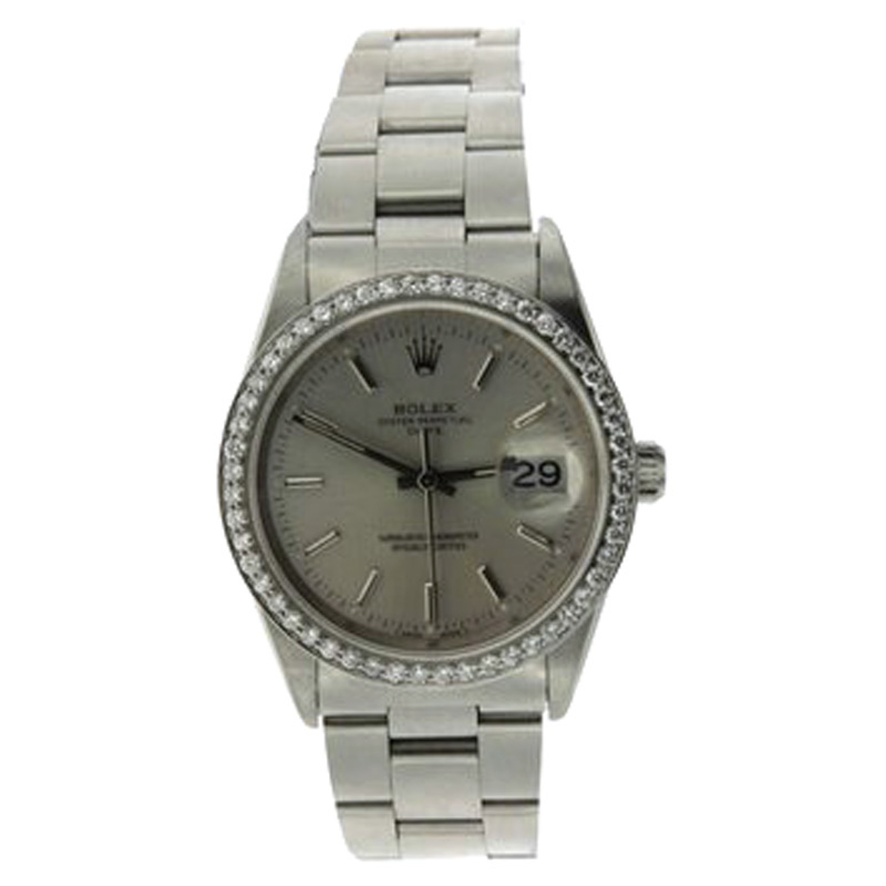 "Image of ""Rolex Date Stainless Steel 34mm Watch"""